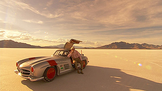 John Fitch and the Mercedes 300 SL at Bonneville, UT 2005